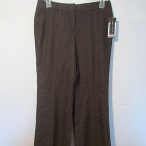 Larry Levine Fit & Flare Stretch Dress Pants Sz 10